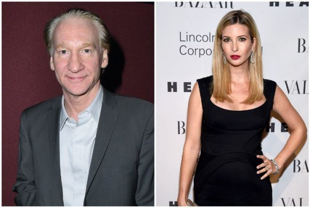 Bill Maher and Ivanka Trump side-by-side.