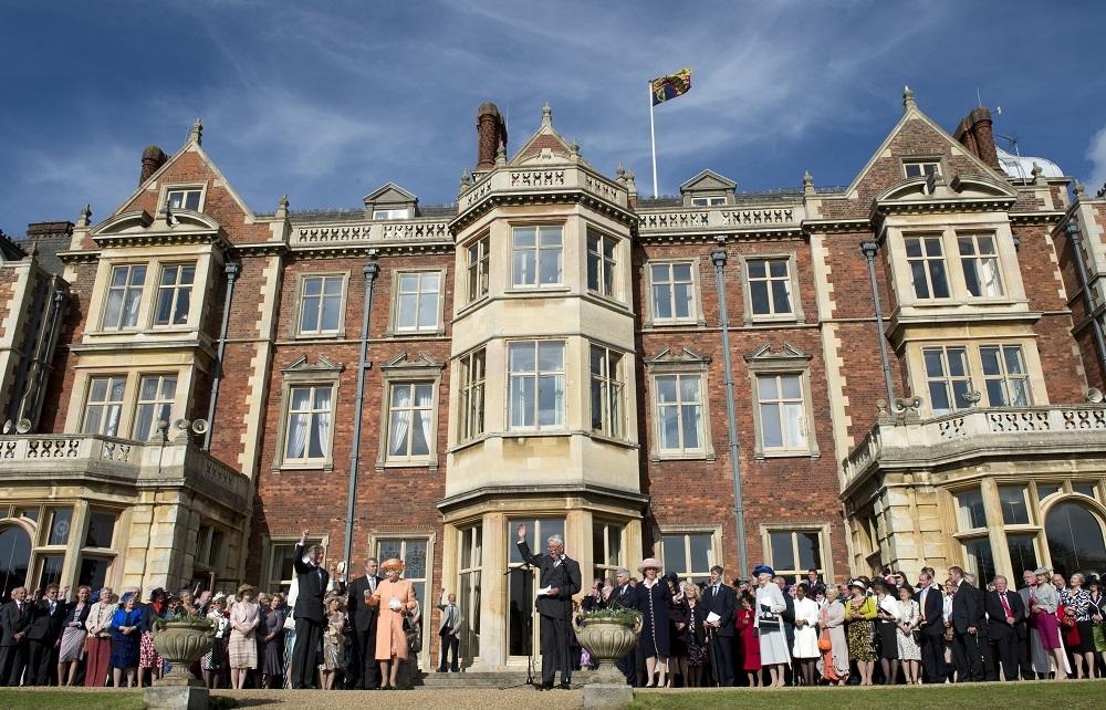 Britain's Queen Elizabeth II receives a round of applause