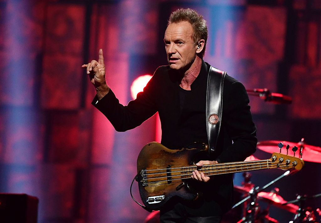 British singer Sting performs during the Nobel Peace Prize concert