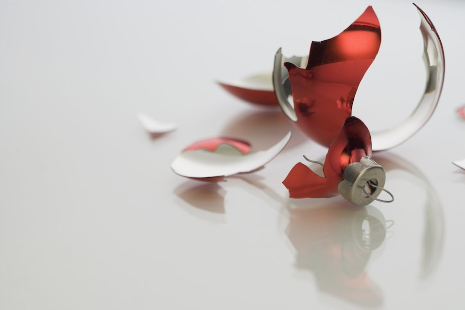 Broken Christmas ornament
