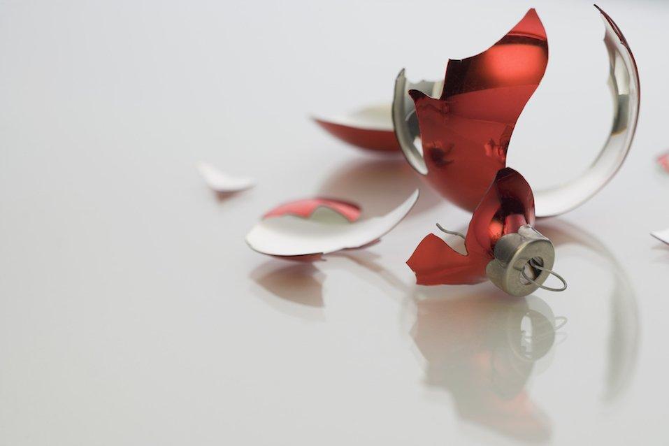 Broken Christmas ornament