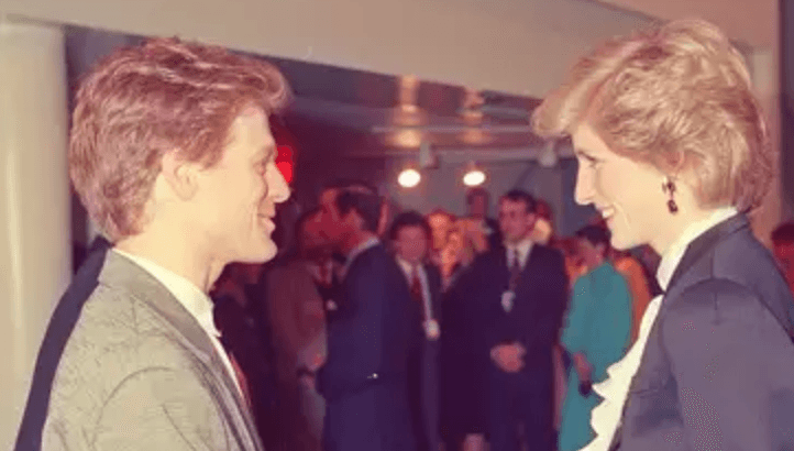 Bryan Adams and Princess Diana