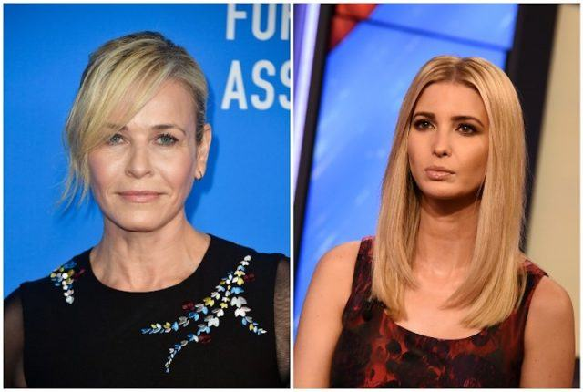 A collage featuring Chelsea Handler and Ivanka Trump.