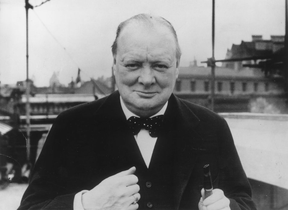 British Conservative politician Winston Churchill