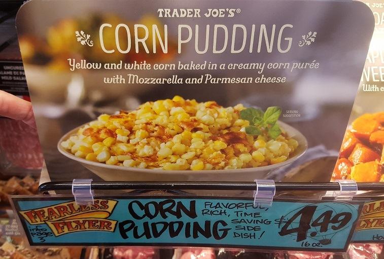 Corn Pudding at Trader Joe's