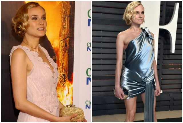 Diane Kruger weight loss comparison collage.