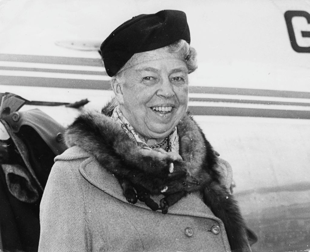 Eleanor Roosevelt, wife of President Franklin D Roosevelt