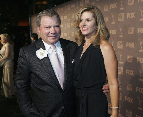 William Shatner poses for photos with Elizabeth Martin.