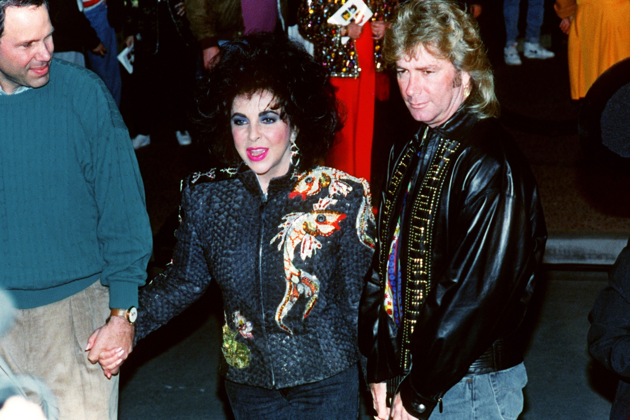 Elizabeth Taylor and Larry Fortensky