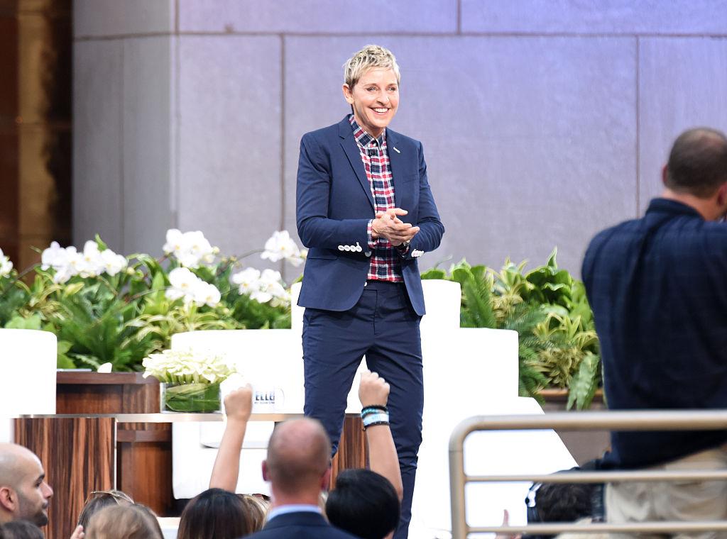 "TV show host Ellen Degeneres appears at ""The Ellen Degeneres Show"" Season 13"