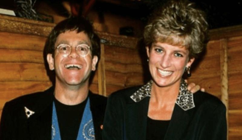 Elton John and Princess Diana
