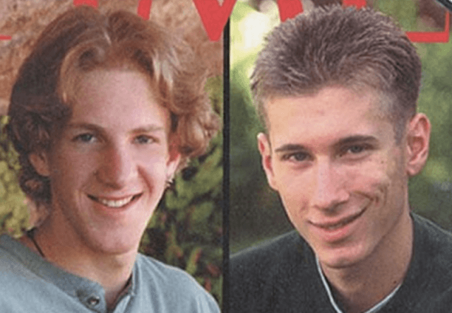 Eric Harris and Dylan Klebold collage.