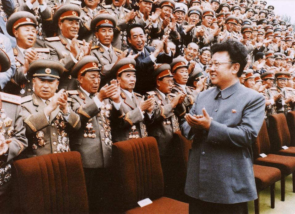North Korean leader Kim Jong-Il meets with Korean People's Army personel