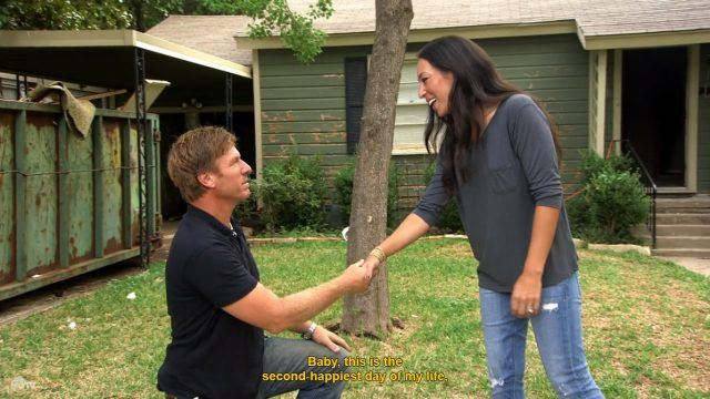 Chip and Joanna Gaines on 'Fixer Upper'.