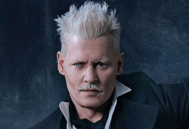 Johnny Depp in 'Fantastic Beasts and Where to Find Them' promo poster.