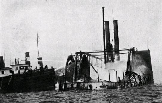 General Slocum Burning North Brother Island