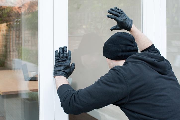 Burglar looking through window
