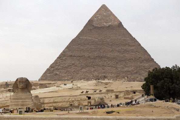 The great pyramid from a distance.