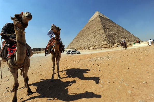 The pyramid of Khafre in Giza, southwest of central Cairo, Egypt