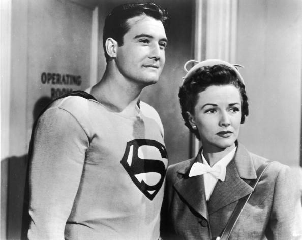 an old photo of superman and lois lane