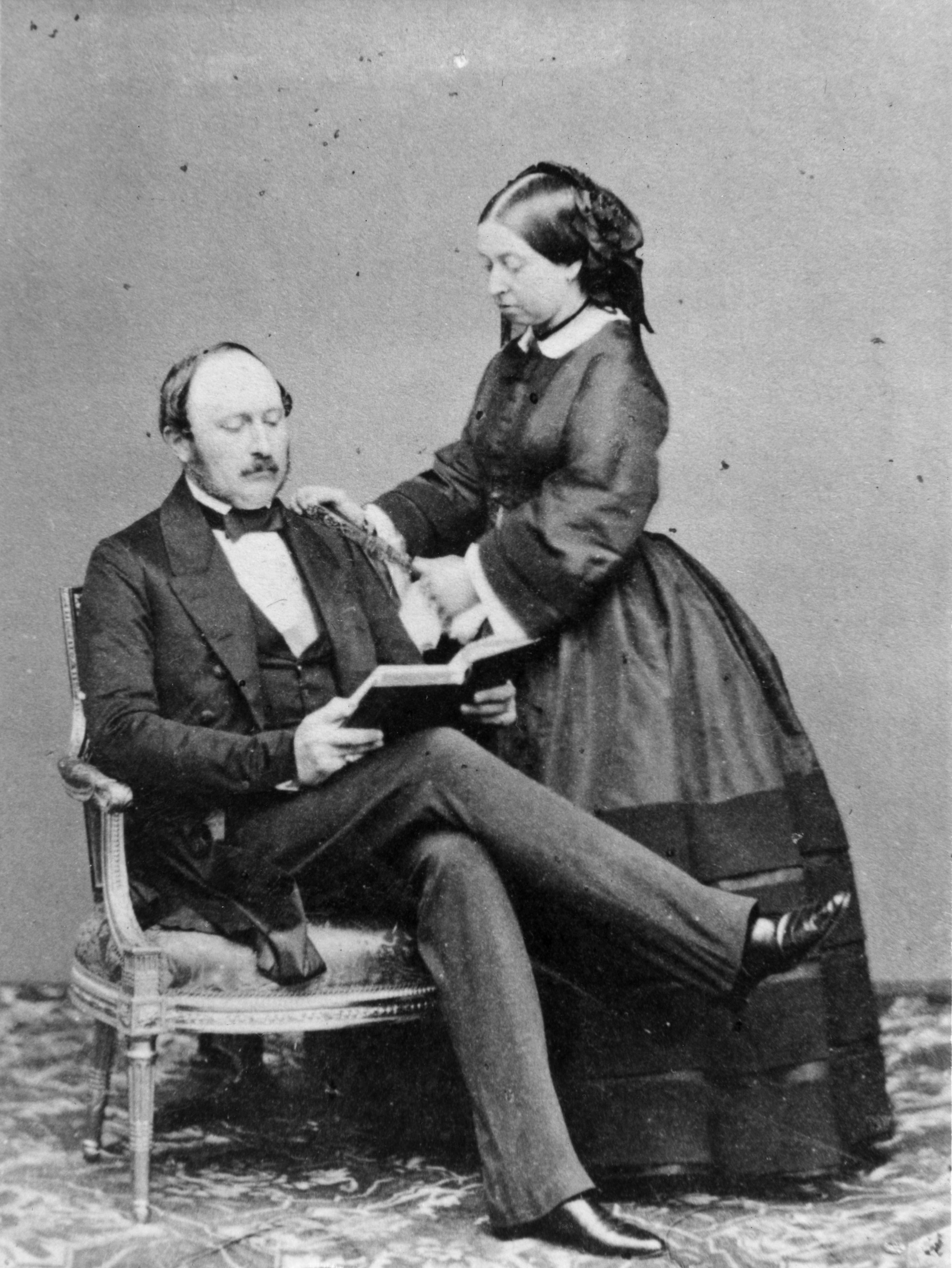 a portrait of queen victoria and prince albert