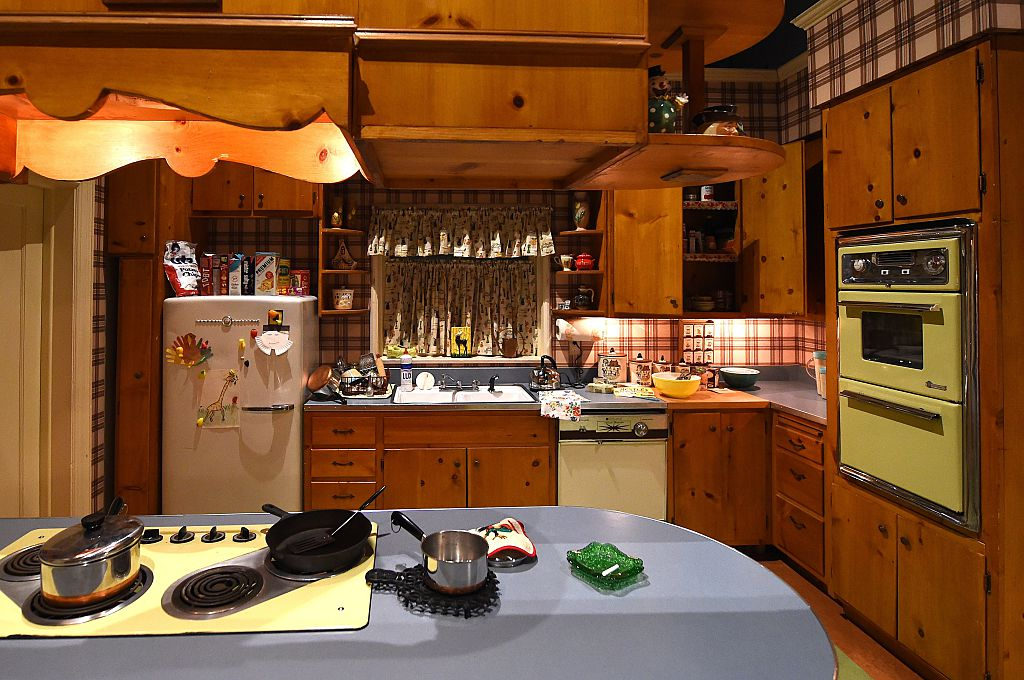 an old-style kitchen at a nostalgia museum