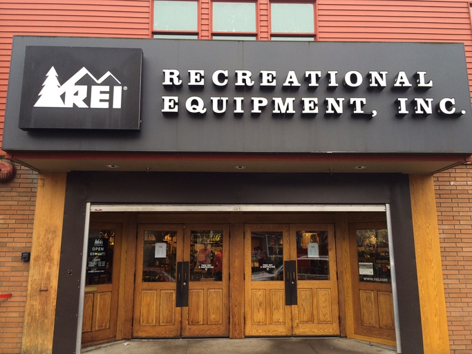 REI storefront