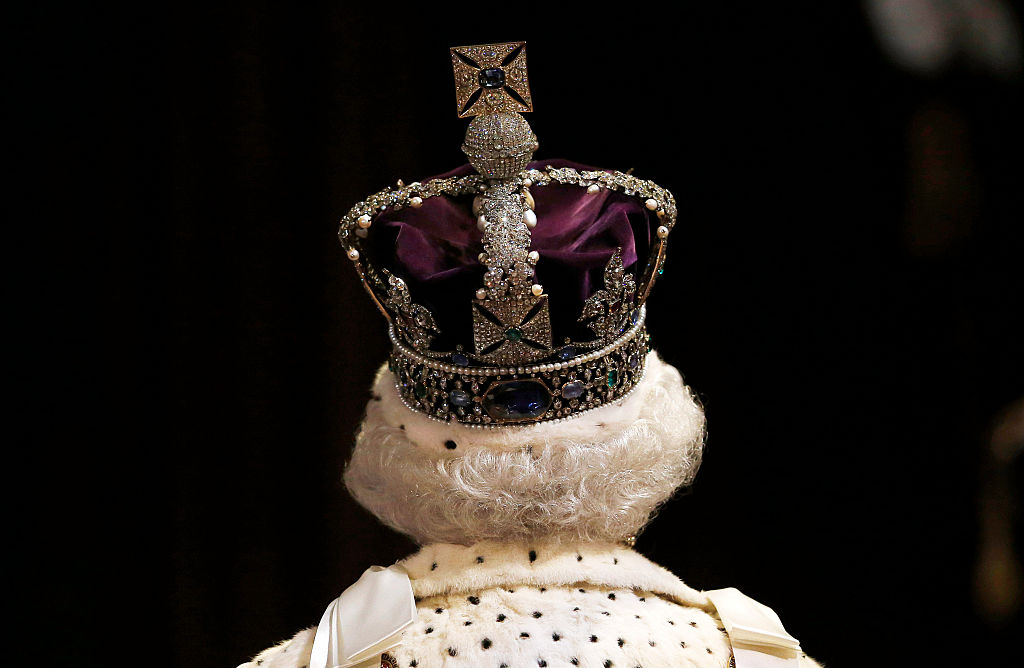 the british crown from the back