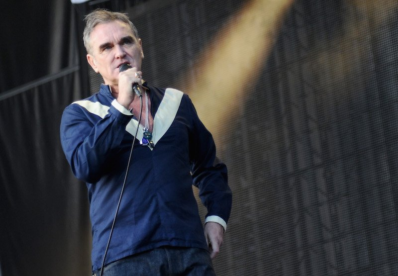 Musician Morrissey performs onstage during day 2 of the Firefly Music Festival on June 19, 2015 in Dover, Delawar