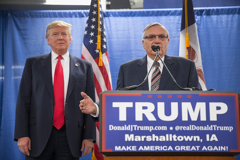 donald trump and sheriff joe arpaio at a campaign rally
