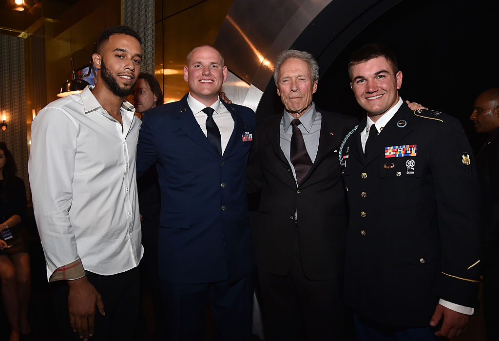 Anthony Sadler, Spencer Stone, Clint Eastwood, and Alek Skarlatos