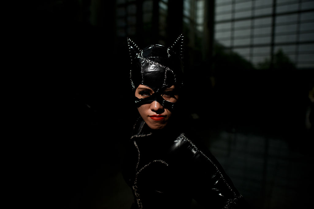 a catwoman face close-up