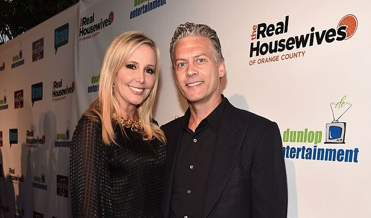 Shannon and David Beador attend the premiere party for Bravo's The Real Housewives of Orange County 10 year celebration at Boulevard3 on June 16, 2016 in Hollywood, California.
