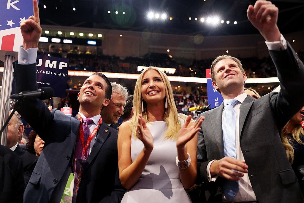 Trump Jr, Ivanka, and Eric Trump