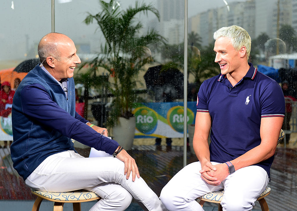 Matt Lauer and Ryan Lochte on Today