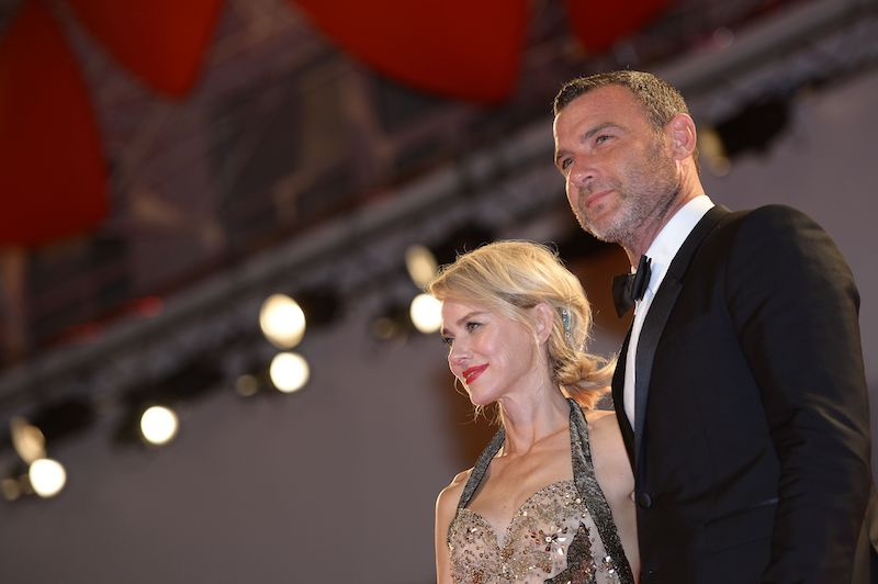 Actor Liev Schreiber and actress Naomi Watts pose on the red carpet