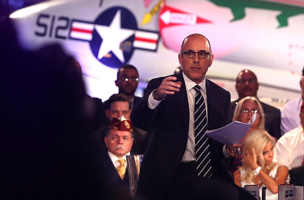 matt lauer at an election event in 2016