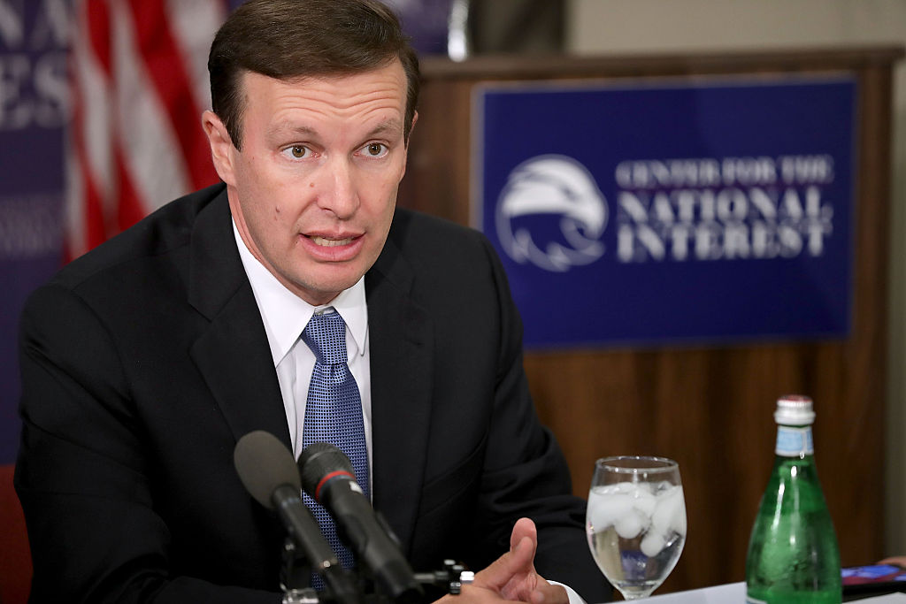 chris murphy in a suit speaks out about gun control
