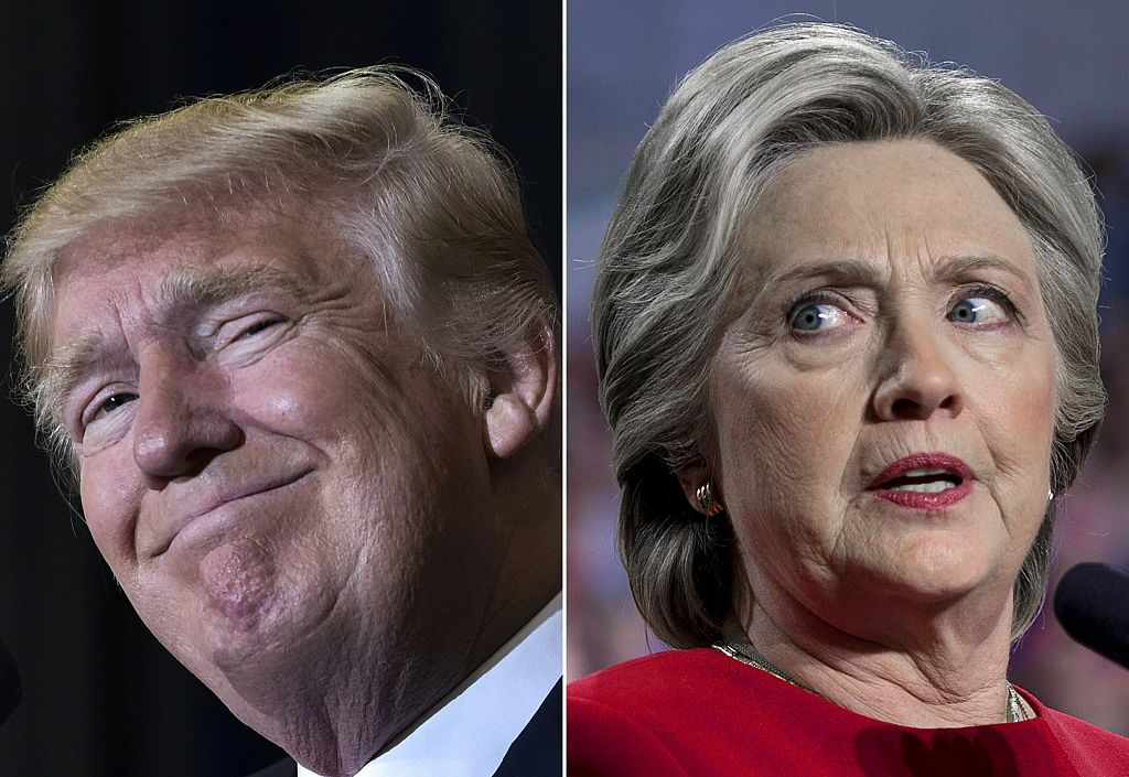 side-by-side images of donald trump and hillary clinton