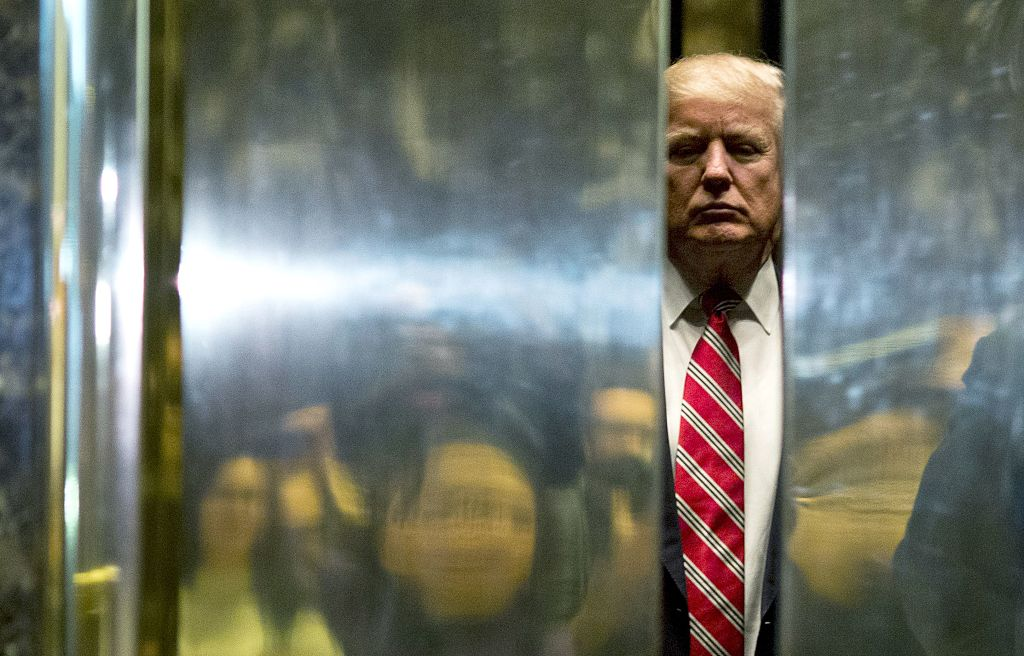 trump in tower elevator