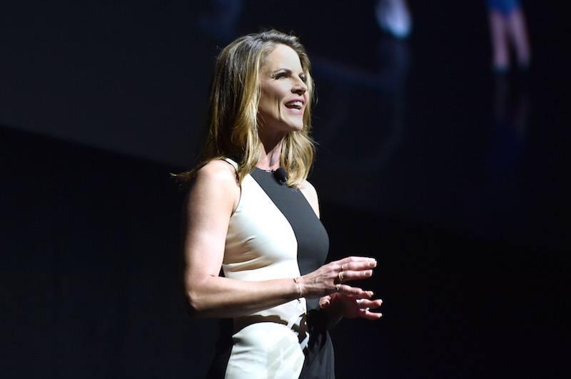 Moderator Natalie Morales speaks onstage