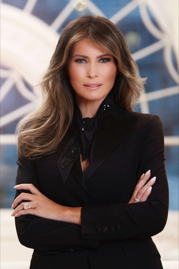 official white house portrait for melania trump