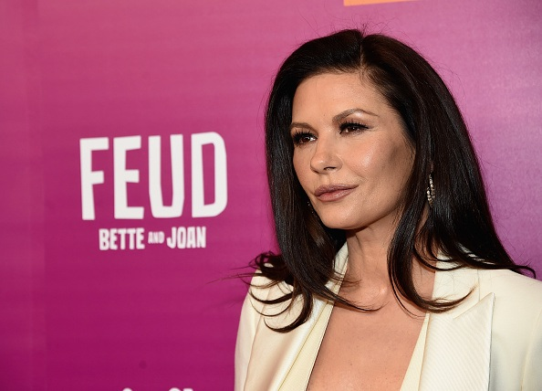 Catherine Zeta-Jones on Feud red carpet.