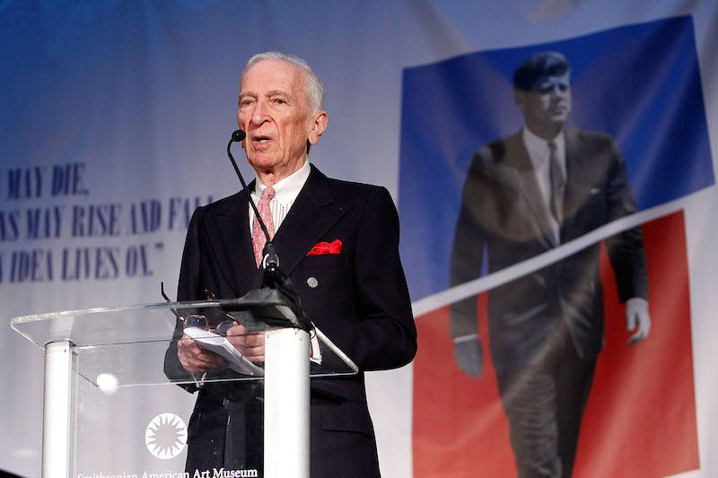 Gay Talese, American writer and journalist, speaks at the American Visionary: John F. Kennedy's Life and Times debut gala