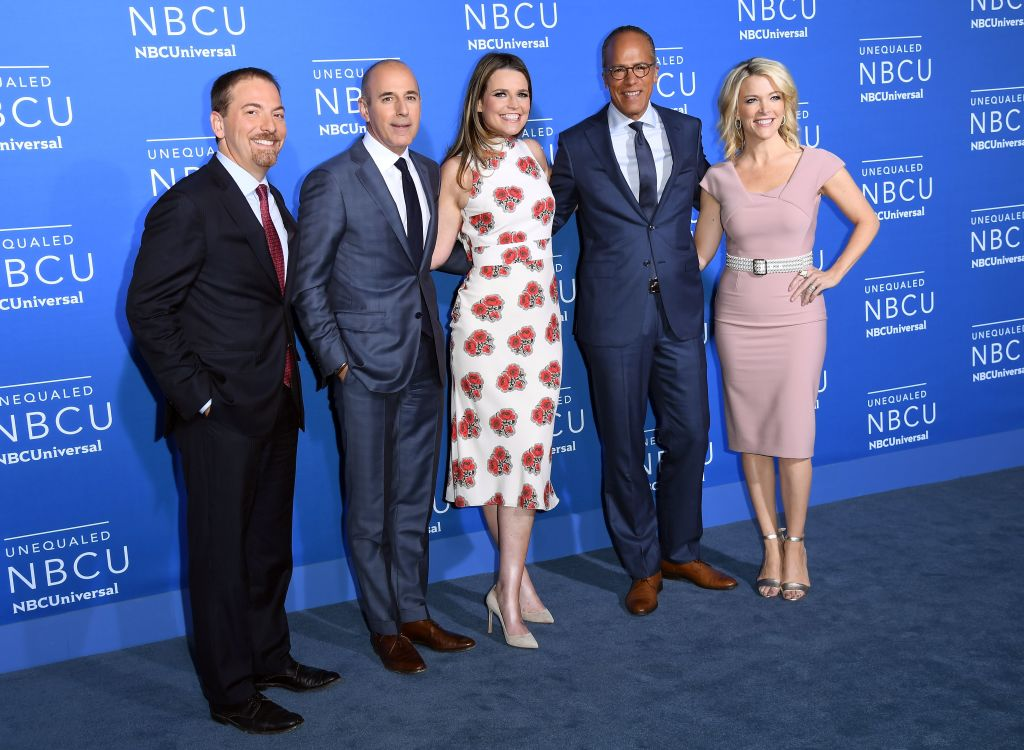 The Today cast including Matt Lauer and Megyn Kelly
