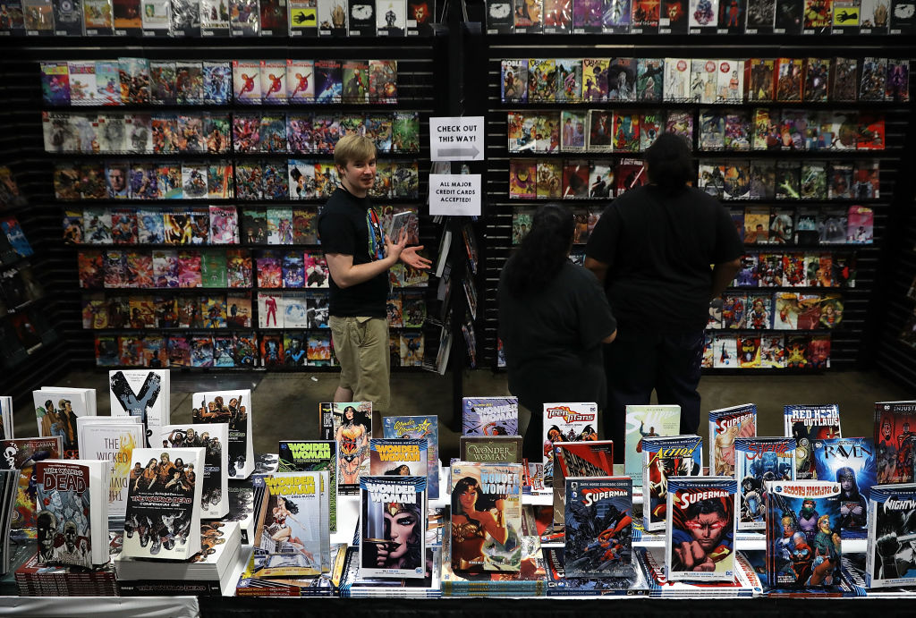a comic book alley at comic con