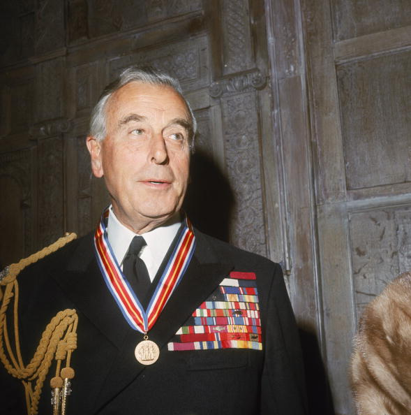 louise mountbatten wearing a uniform and medal