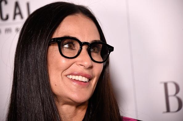 Demi Moore wearing glasses