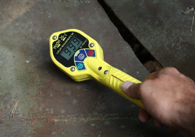 A geiger counter detects large amounts of radiation.