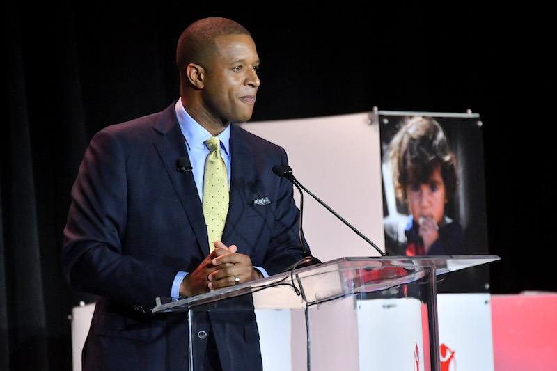 NBC News Co-Anchor Craig Melvin speaks onstage during the 5th Annual Save the Children Illumination Gala at the American Museum of Natural History on October 18, 2017 in New York City.